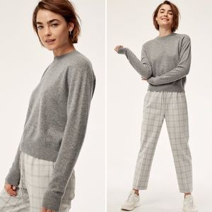 Aritzia Babaton Luxe Cashmere Crew Neck Sweater